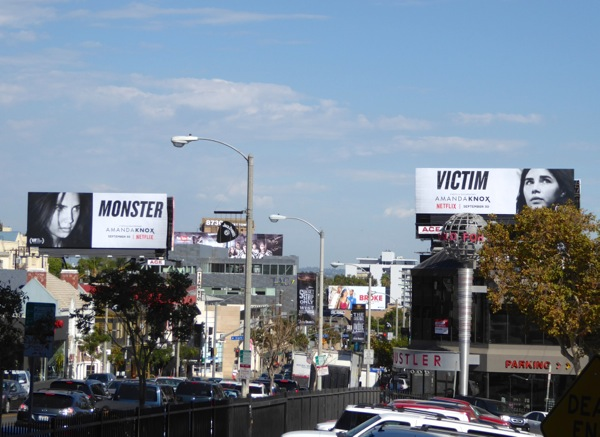 Amanda Knox Netflix billboards Sunset Strip