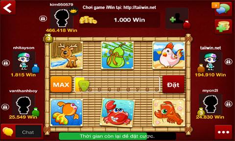 Game bầu cua online với giao diện đẹp mắt, dễ sử dụng