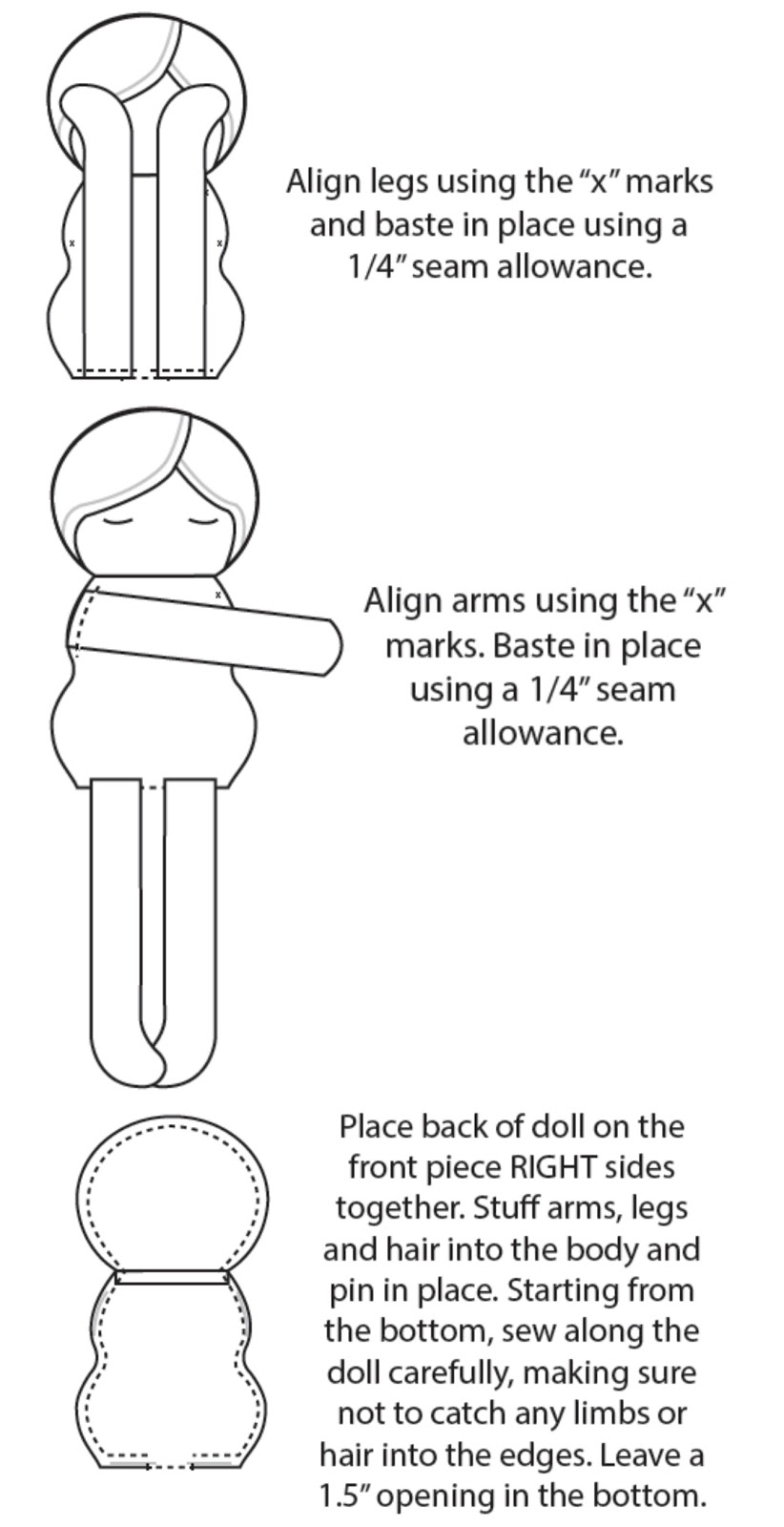 photo about Printable Rag Doll Patterns titled Doll Routine Manual - Mad Tiny Initiatives
