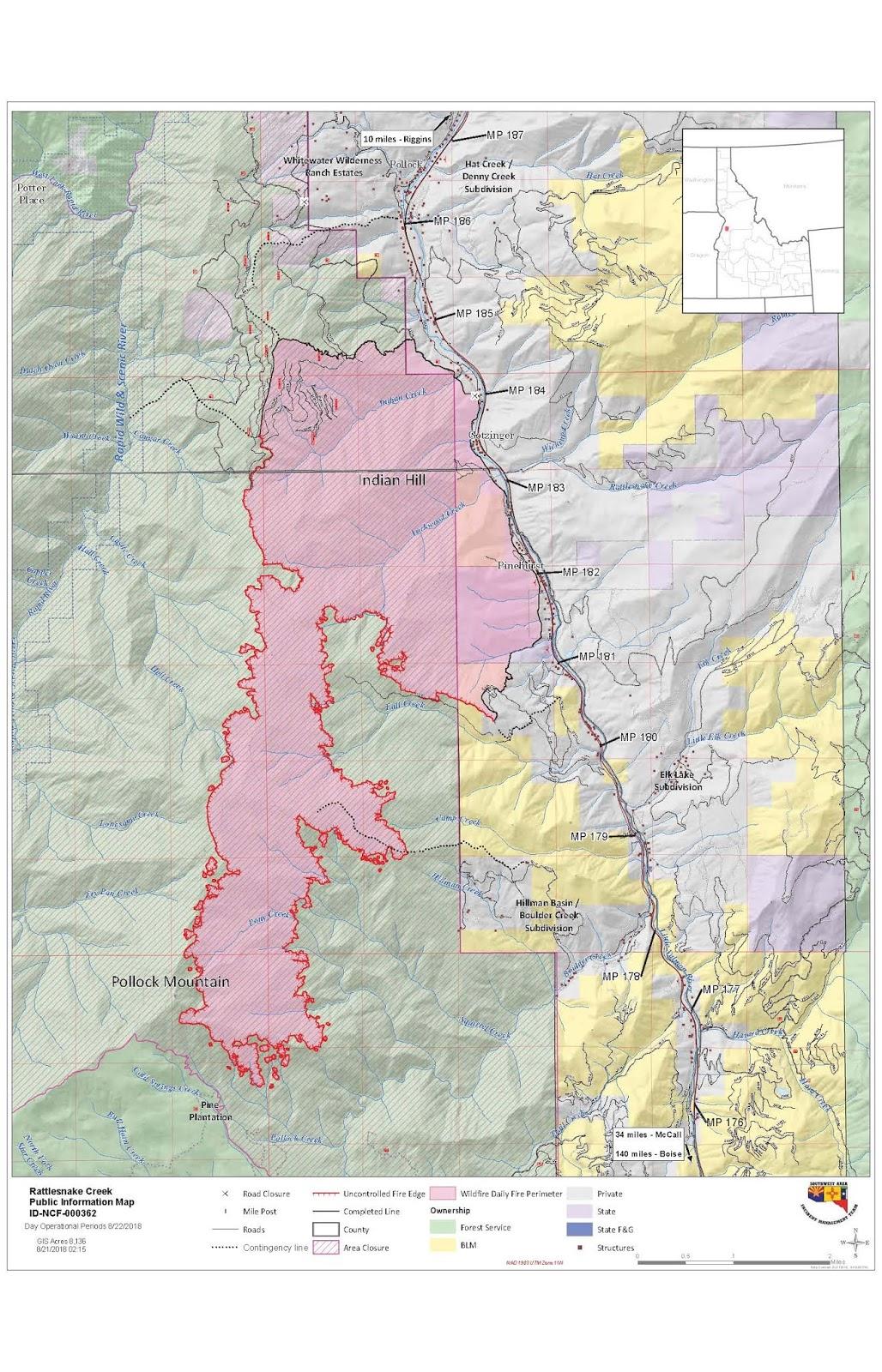 Idaho Fire Information August 2018