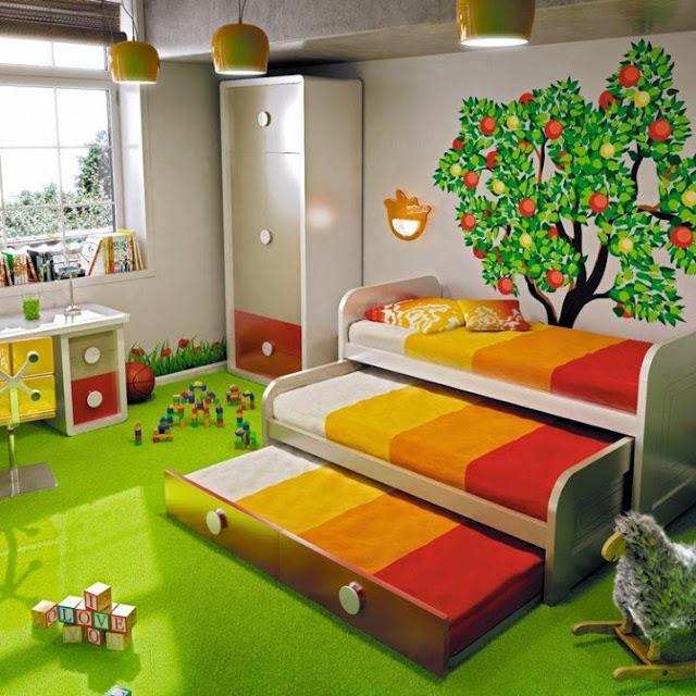 Φοβερά Σχέδια κρεβατιών κουκέτας για τρία παιδιά