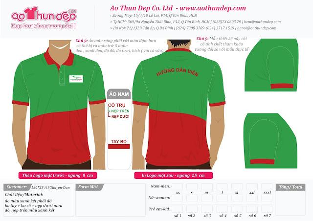 Đồng phục công ty du lịch Truyền Thông Travel