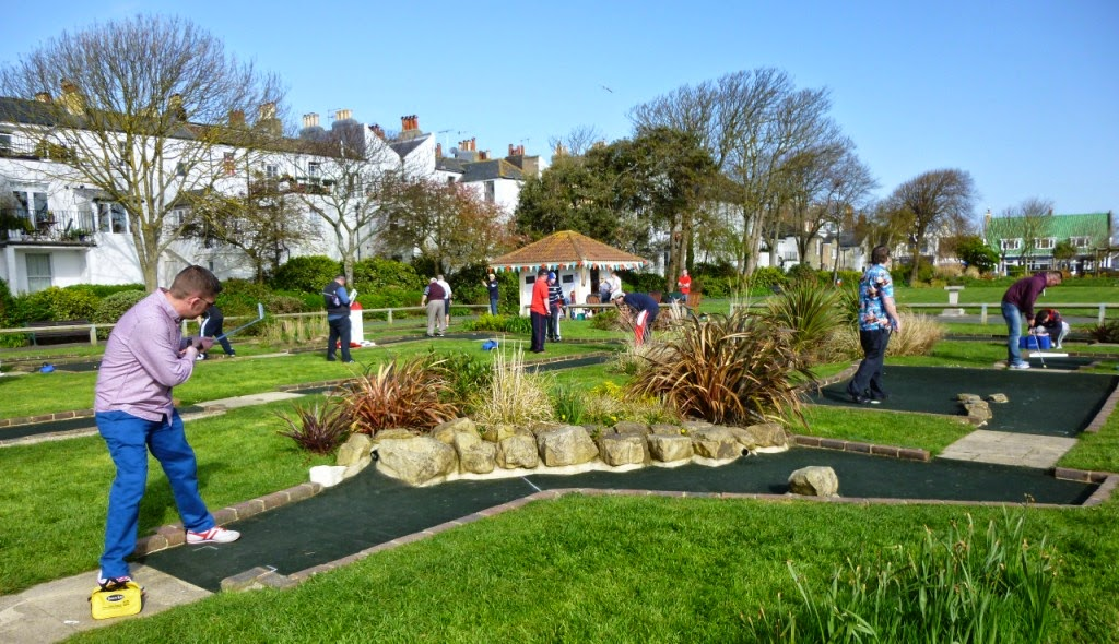 Minigolf Photo: Richard Gottfried at Splash Point Mini Golf in Worthing earlier this year