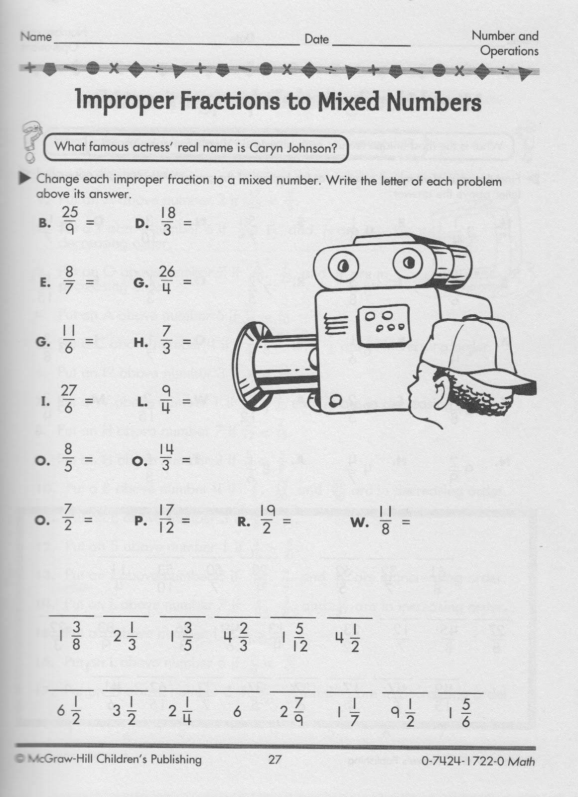 Fraction homework help