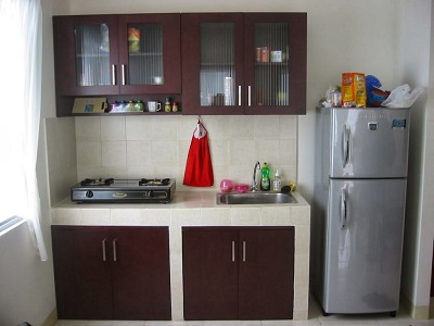 Interior ruangan dapur rumah masa kini