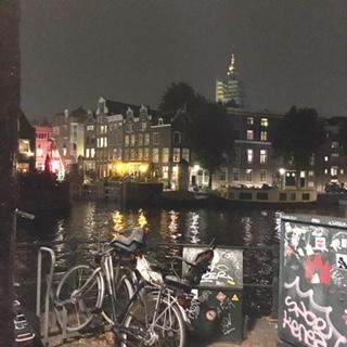 Holland, Amsterdam, bike, night, the Netherlands