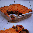 Spicy Bean. Lentil and Beef Cottage Pie