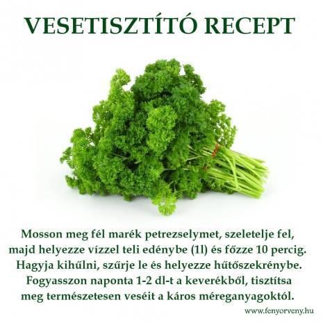 Vesetisztító recept