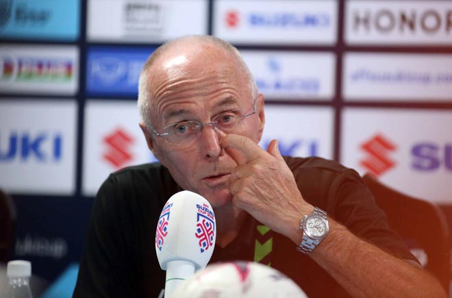 HLV Eriksson thừa nhận sức mạnh của ĐT Việt Nam sau trận thua 1-2 ngay trên sân nhà.