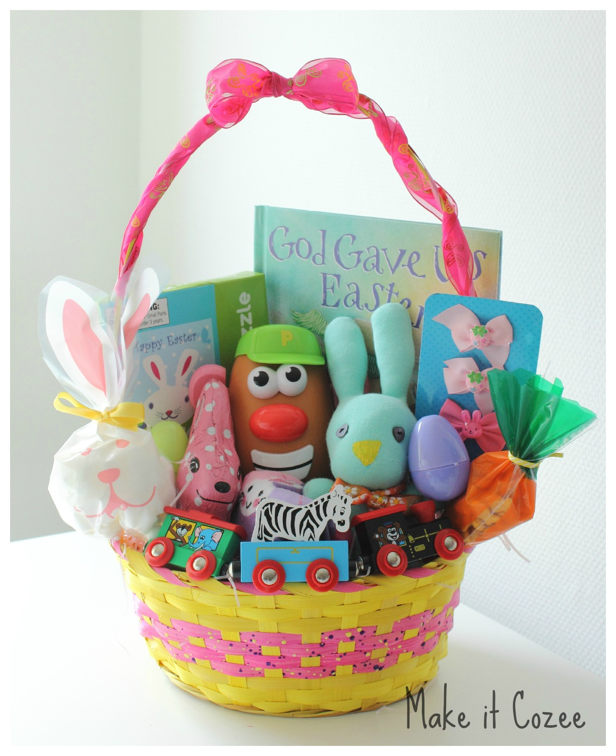 Make it cozee toddler easter basket toddler easter basket negle Image collections