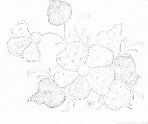 risco pintura em tecido  folk art patch apliqué