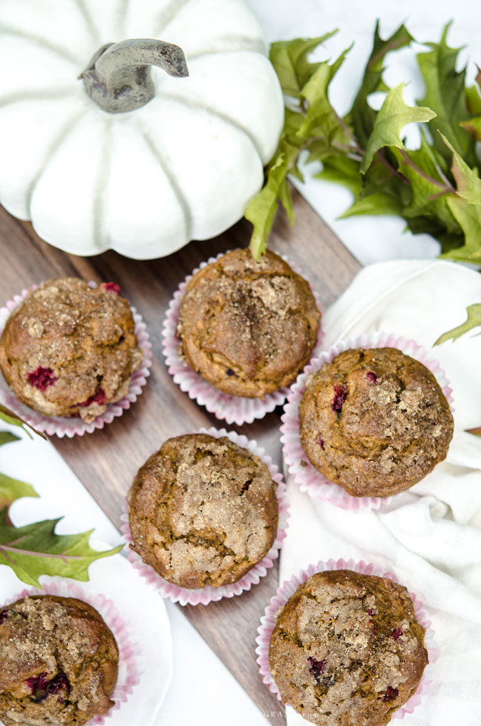 Recipe for Pumpkin Spice Cranberry Muffins