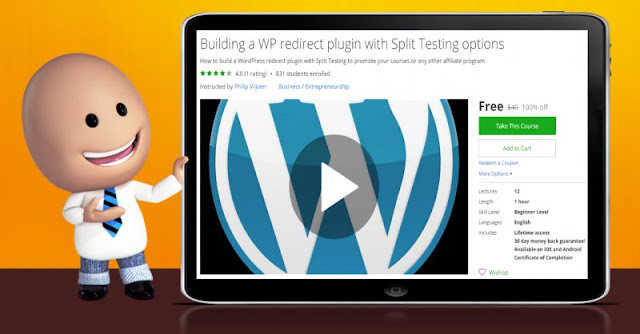 [100% Off] Building a WP redirect plugin with Split Testing options| Worth 40$