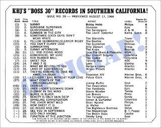 KHJ Boss 30 No. 59 - August 17, 1966