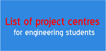 LIST OF PROJECT CENTERS IN MADURAI « PROJECT TITLES