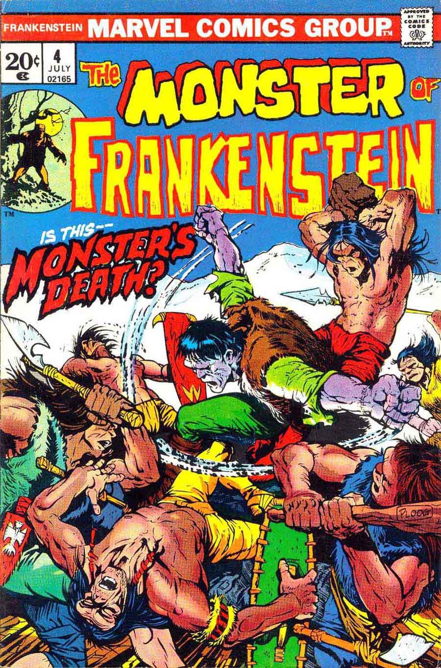 Frankenstein v2 #4 marvel comic book cover art by Mike Ploog