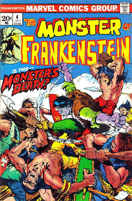 Frankenstein v2 #4 marvel comic book cover art by Mike Ploog