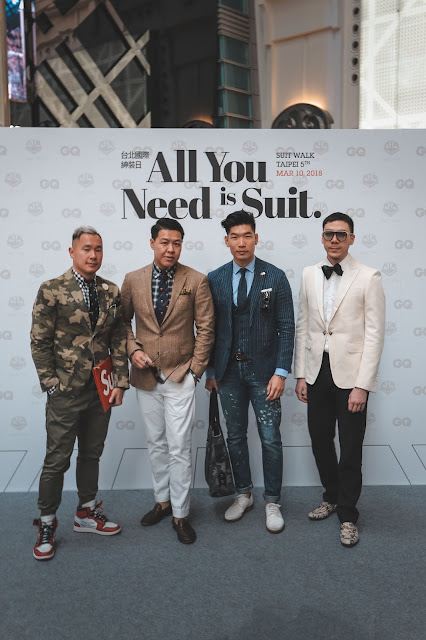 Leo Chan at GQ Taiwan Suit Walk with friends