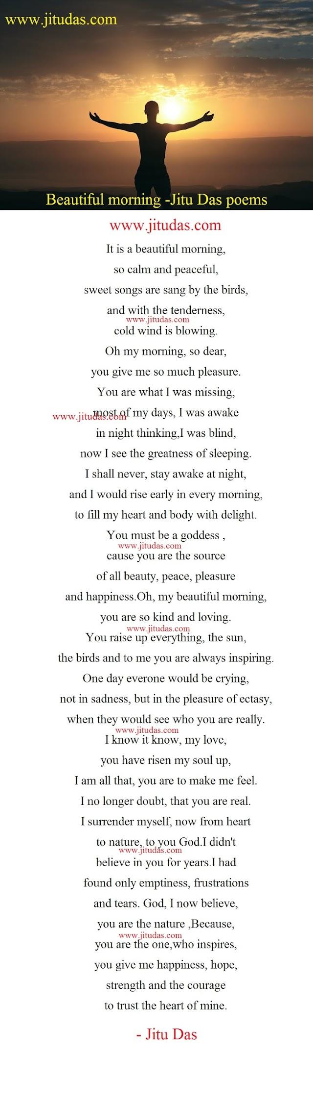 Beautiful morning poem by Jitu Das english poems