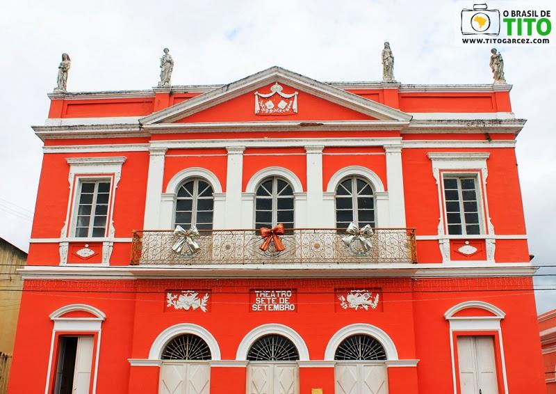 Fachada do Theatro Sete de Setembro em Penedo, Alagoas