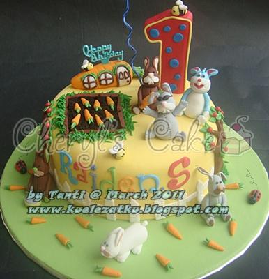 Rabbit Cupcake Cake