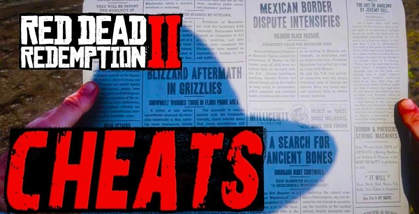 rdr2 cheat codes newspapers