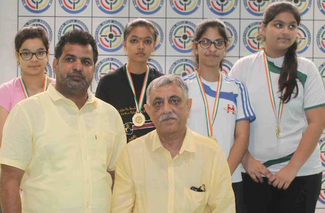 Concluding the shooting championship organized by the Haryana Rifle Association