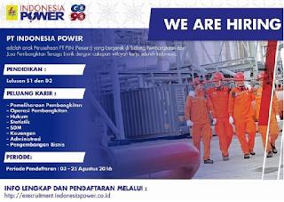 Lowongan Kerja BUMN Terbaru PT Indonesia Power