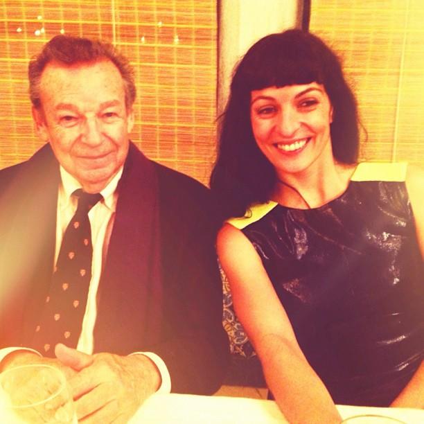 Homenaje a dúo rebaltade de Nina Bergonzi en la Cena del Círculo casanovista 31 de octubre 2012, Roser Amills y Alicia