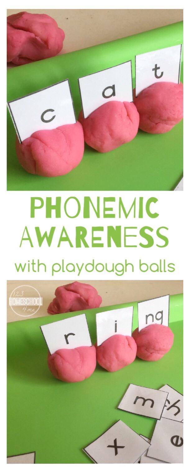 phonological awareness activities preschool phonemic awareness with playdough balls 31610
