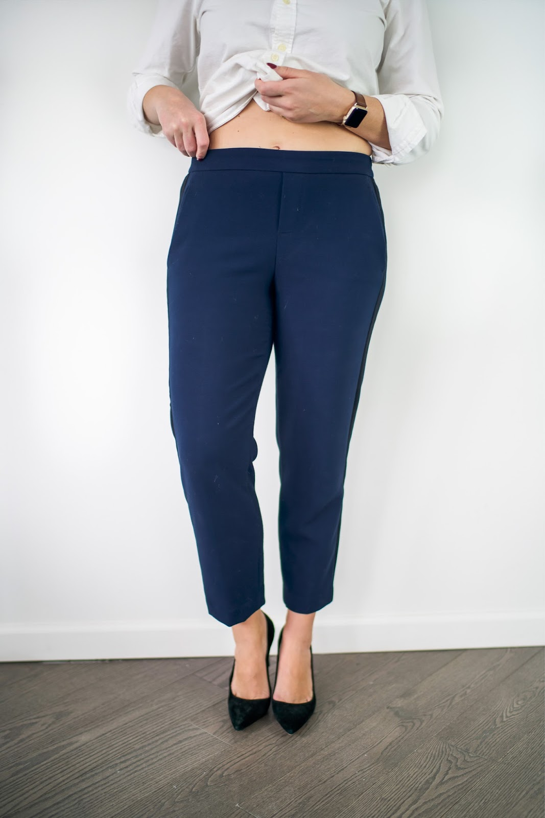 Comfy Work Pants by popular New York style blogger Covering the Bases