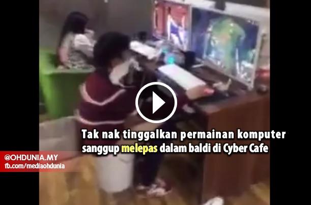 VIDEO: Sanggup Melepas Dalam Baldi Di 'Cyber Cafe'