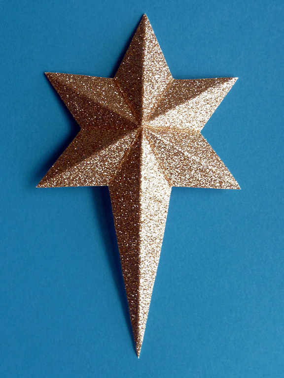 stampin along with heidi making the 3 d six sided star doing the