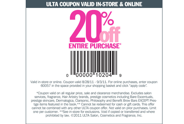 graphic regarding Printable Dawn Coupons identified as Ulta coupon codes within just retail store printable 2018 - Sunrise coupon codes nov 2018