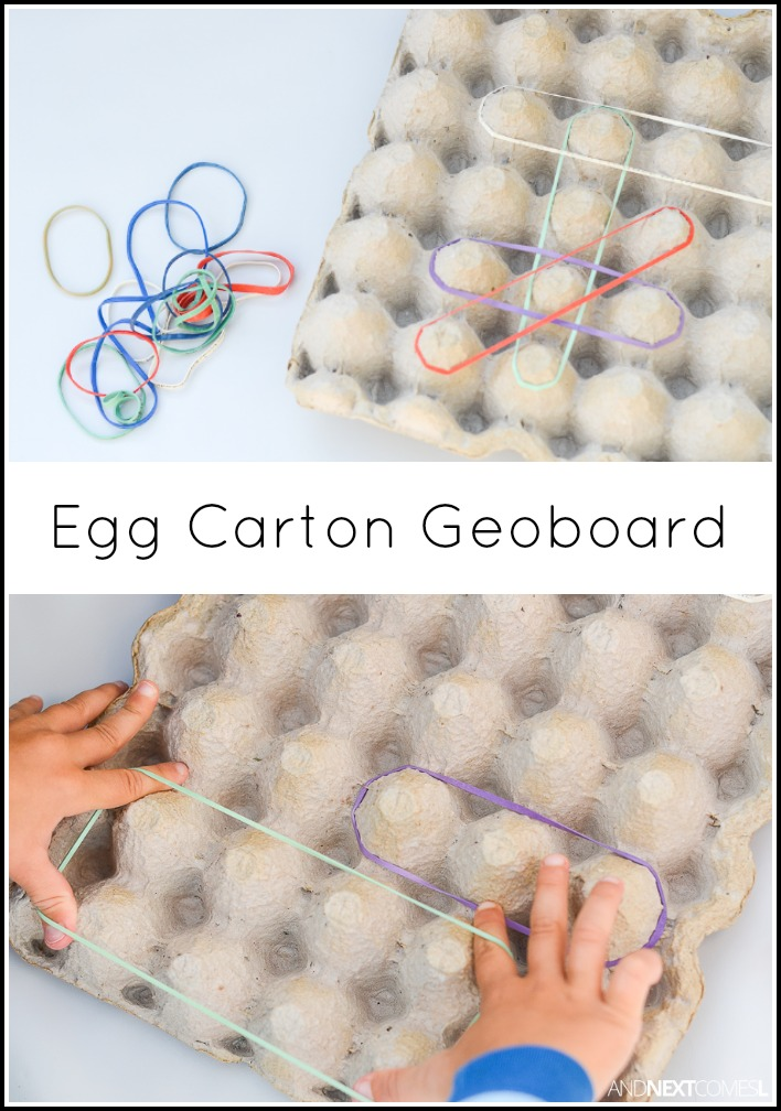 egg carton geoboard and next comes l. Black Bedroom Furniture Sets. Home Design Ideas