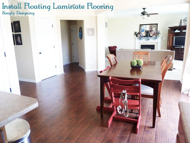 Install Floating Laminate Flooring | #diy #laminateflooring #flooring #homeimprovement | at Simply Designing