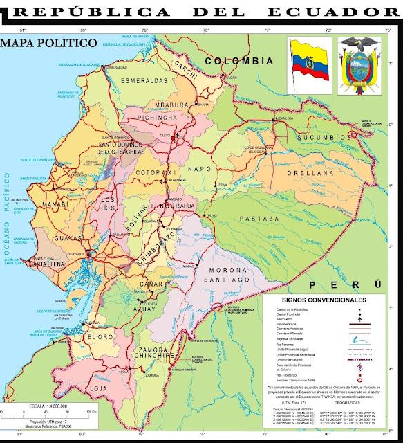 ecuador en el mapa