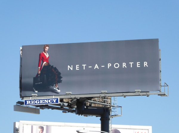 Net A Porter Spring 2016 fashion billboard