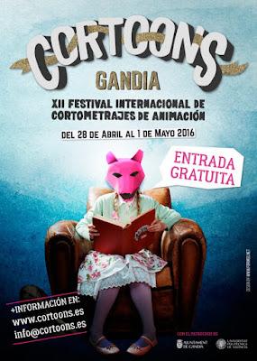 XII Festival Internacional de cortos de animación CORTOONS en Gandia