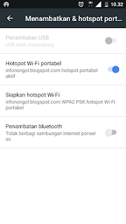 Mengaktifkan hotspot wifi potable dengan mudah