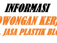 Lowongan Kerja UD. Jasa Plastik Blora Bagian Operator Produksi Jas Hujan