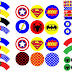 Superheroes Birthday Party: Free Printable Wrappers and Toppers for Cupcakes.