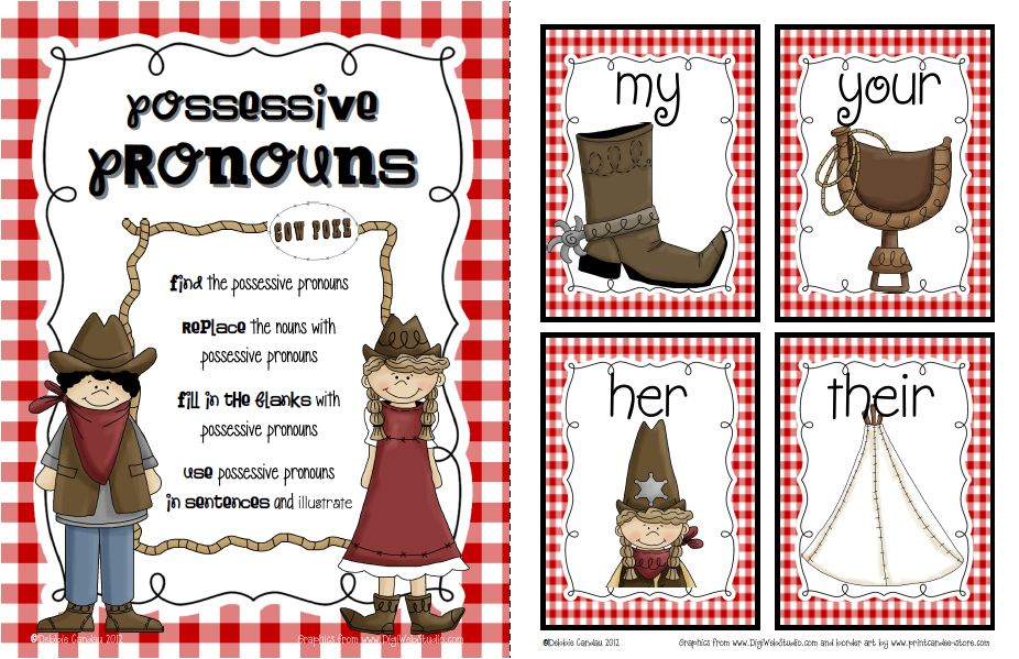 4th Grade free adjective worksheets for 4th grade : Sailing Through 1st Grade: Possessive Pronouns