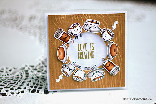 Lawn Fawn // Love is Brewing Shaker Card