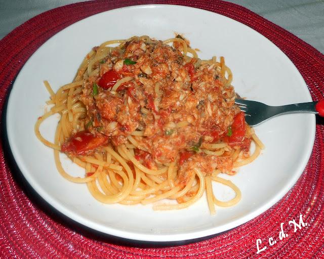 spaghetti al sugo di pesce - ciambotto