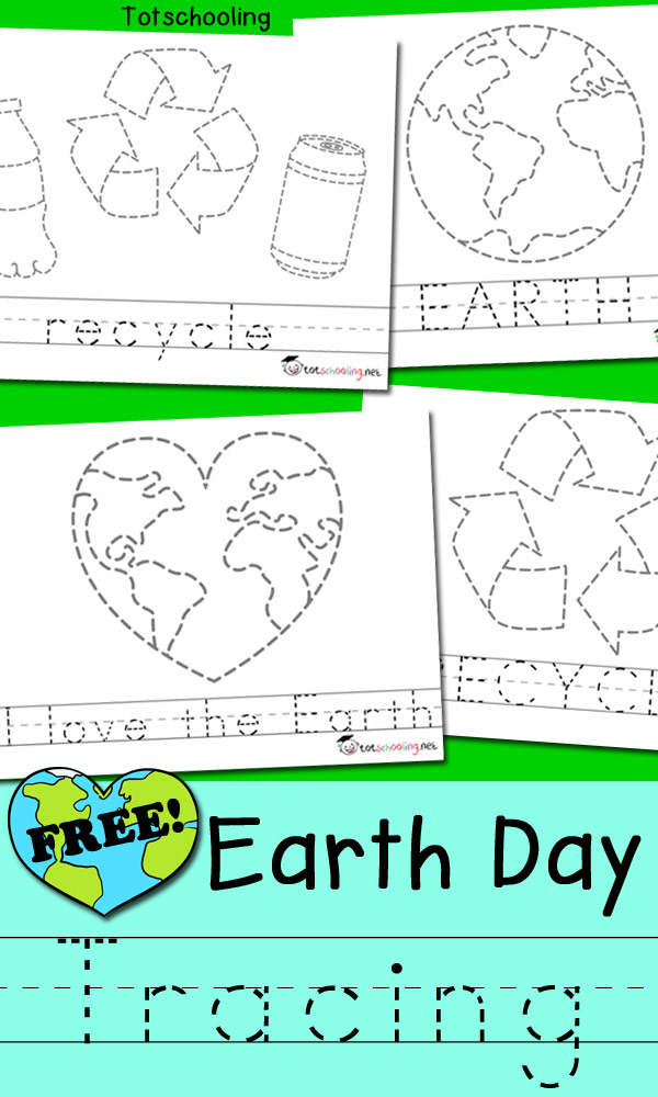 FREE Earth Day Tracing Sheets Including Pictures And Words That Kids Can Trace Great For