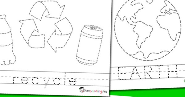 earth day picture word tracing totschooling toddler preschool