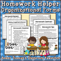 https://www.teacherspayteachers.com/Product/Homework-Helper-Organizational-Forms-53174