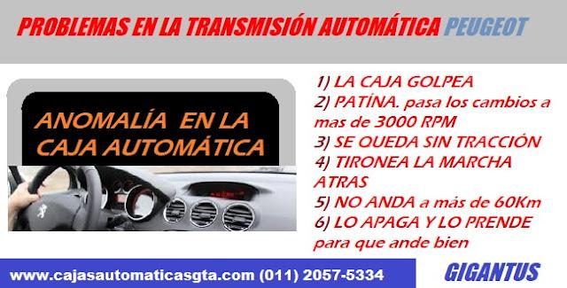 FALLAS Y PROBLEMAS EN LA CAJA AUTOMATICA DE PEUGEOT