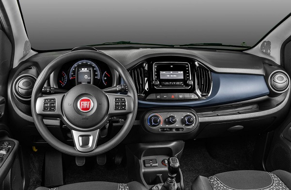 Interior Fiat Uno Way (2018)